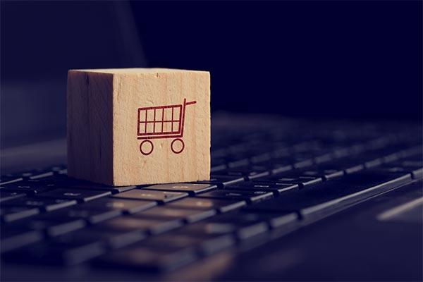 shopping cart block on keyboard