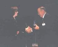 Award presented to Tsutomu Kanai