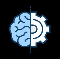half brain connected to half gear