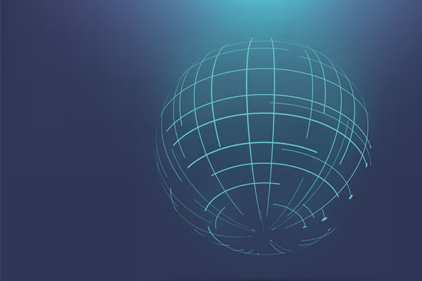 Globe made out of lines