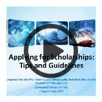 Learning Webinar Presentation Cover: Applying for Scholarships