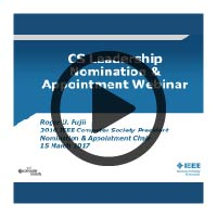 Learning Webinar Presentation Cover: CS Leadership Nomination
