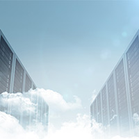 data center in the clouds