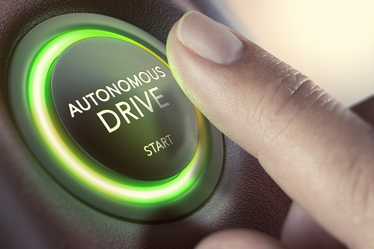 Pressing start button in autonomous car
