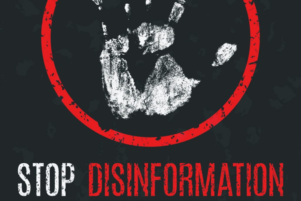 stop disinformation sign