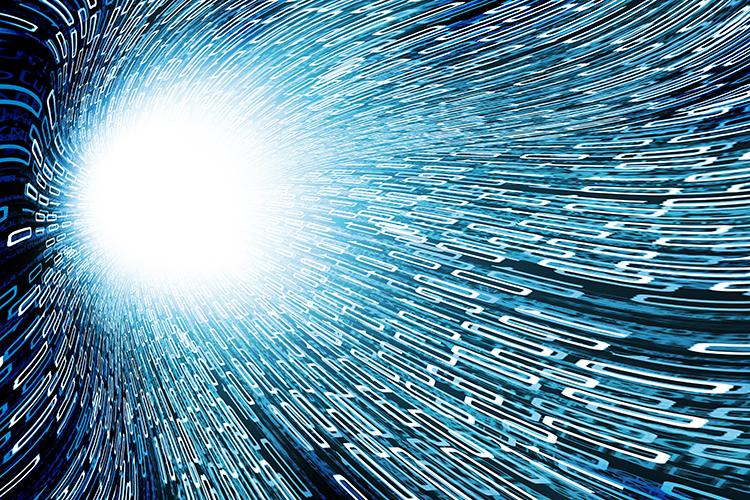 light streaming through tunnel