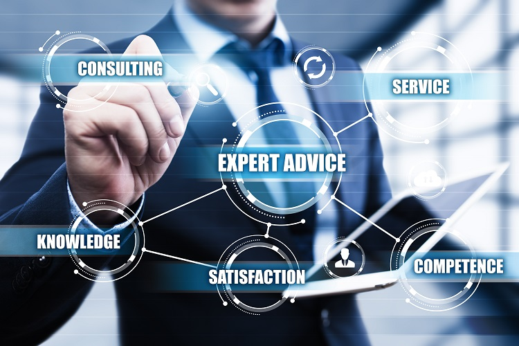 Expert Advice Consulting Service Business Help concept