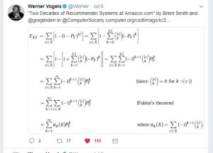 Amazon CTO Werner Vogels tweet