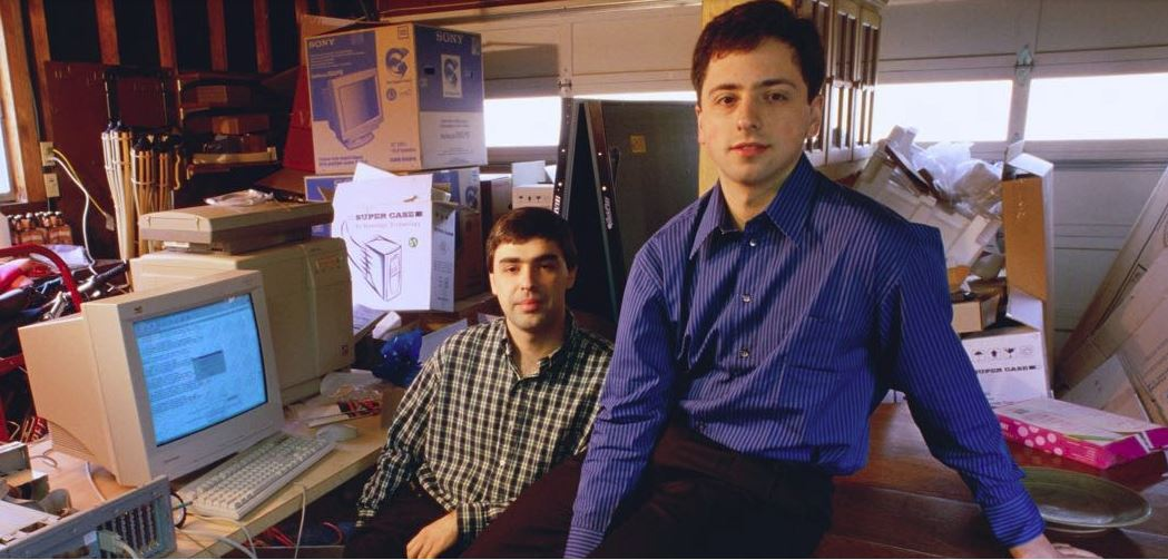 Google co-founders Sergey Brin and Larry Page