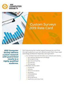 IEEE Computer Society Market Research and Survey Media Kit cover