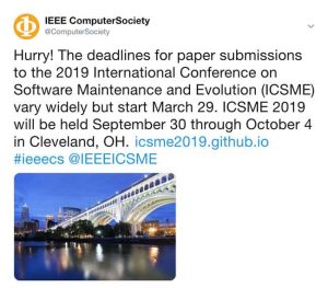 sample IEEE Computer Society Twitter post