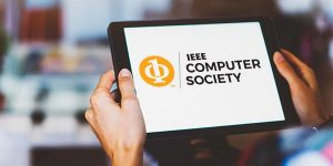 IEEE Computer Society Logo on tablet