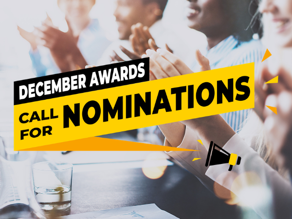 December 2020 Awards and Nominations