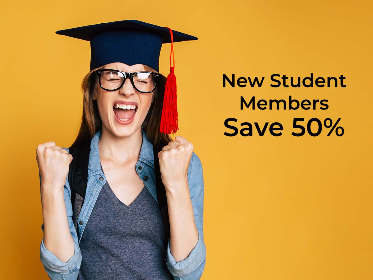 Receive 50% Off Your 2022 Student Membership
