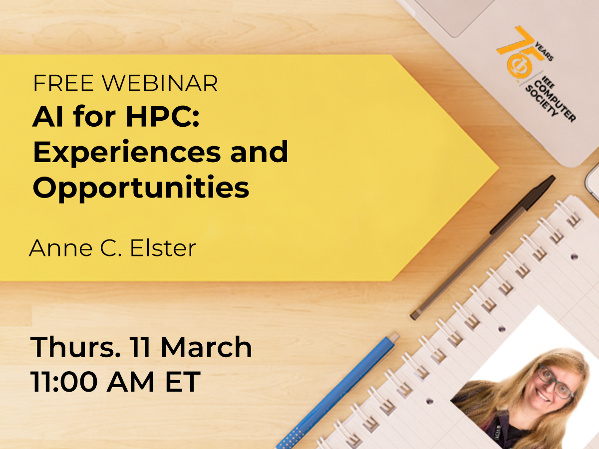 New Webinar! AI for HPC: Experiences and Opportunities