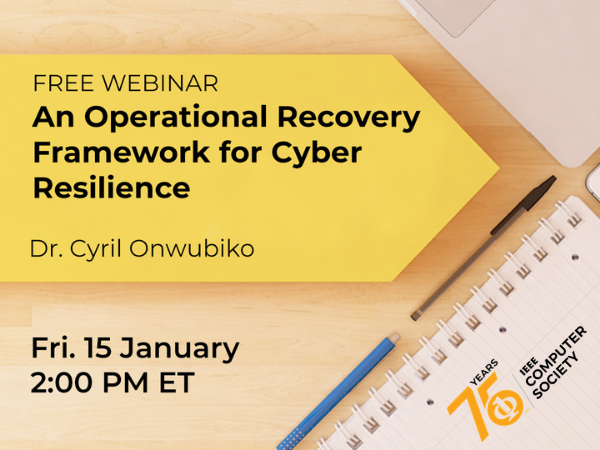The First Webinar of 2021: Understanding Cyber Recovery Operational Framework