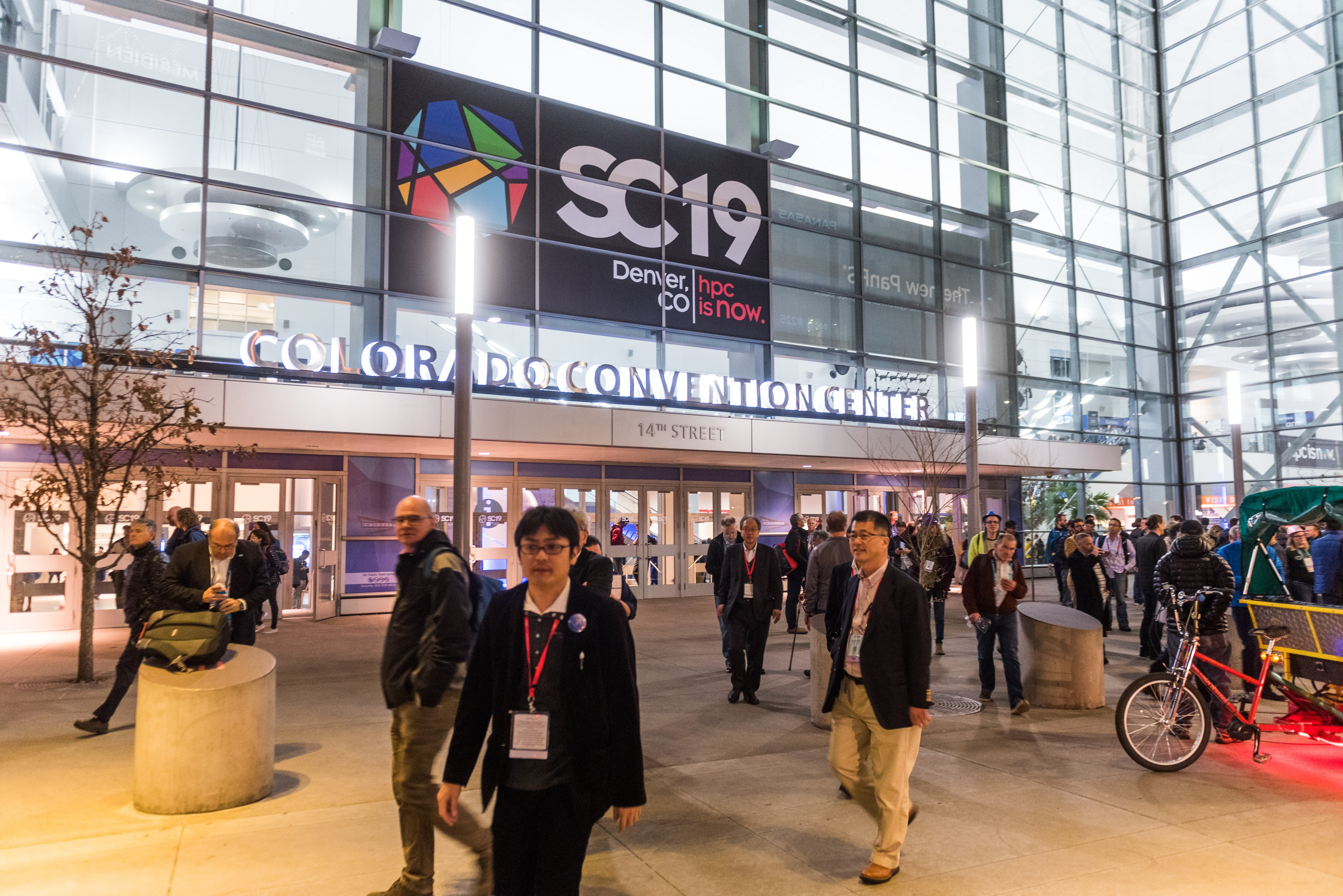 Entrance of convention center for Supercomputing 2019 Conference.